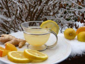 Чай из имбиря с лимоном фото