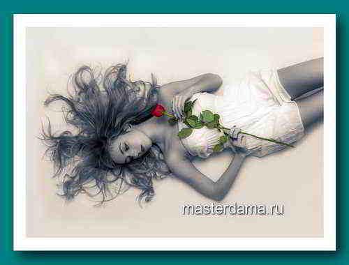 Красивые волосы фото девушки с розой