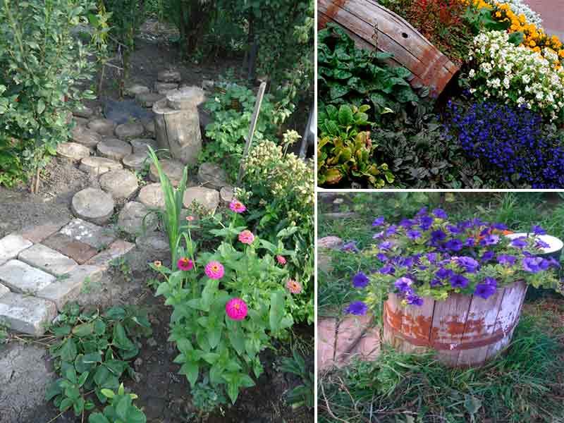 садовые поделки из подручных материалов