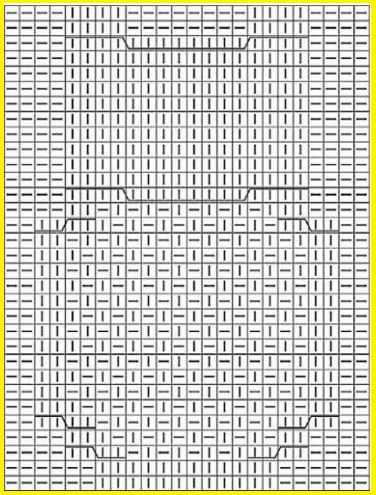 Схема вязания рисунка Сова